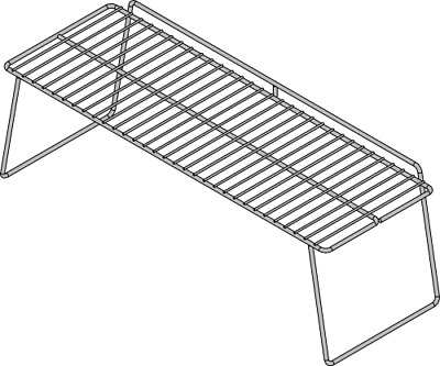 Stainless steel midshelf to suit 2 x 3 pan food bars Roband|