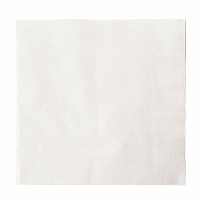 White Lunch Napkins Single Ply - 33x33cm (Box 5000) Non Branded|