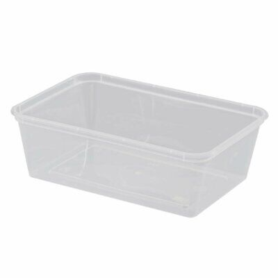 Rectangular Microwave Containers 750ml Non Branded|