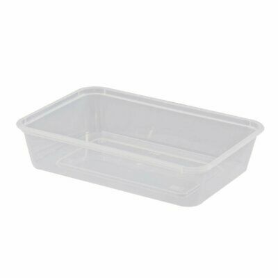 Rectangular Microwave Containers 500ml Non Branded|