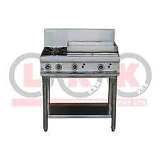 LKKOB6B 2 Gas open burner cooktop + 600mm Right Grill