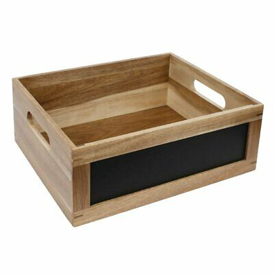 Olympia Display Crate with Blackboard Side 1/2 GN