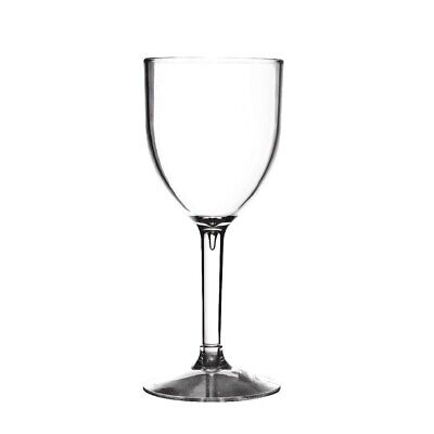 Polycarbonate Wine Glass - 190ml (Box 50) Non Branded|