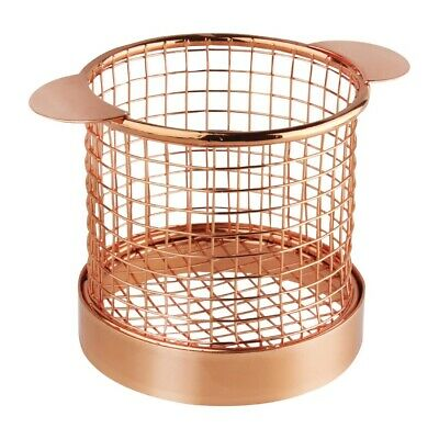 Olympia Presentation Basket Copper with Ears - 80 Dia x 80mm H