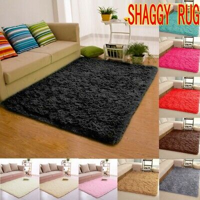 Shaggy Rug 45mm High Pile Small Extra Large Thick Soft Living Room Floor Bedroom