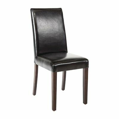 Faux Leather Dining Chair (Black) (Pack 2) Bolero|