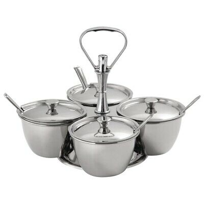 Revolving Relish Server - Four Bowls Non Branded|