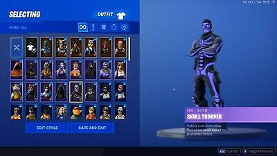 Fortnite Skull Trooper And Reaper Pickaxe Account For Pc Ps4