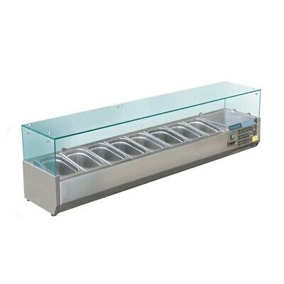 Polar Refrigerated Counter Top Prep/Servery - 1800mm 8 x GN 1/3