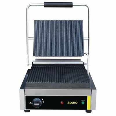 Apuro Bistro Contact Grill - Large (Ribbed/Ribbed) - Au Plug