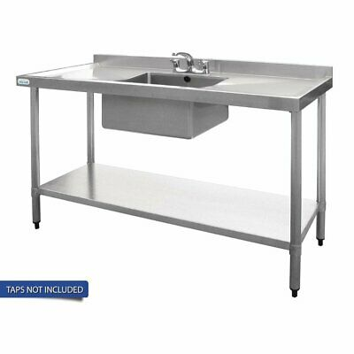 Vogue Single Bowl Sink Double Drainer - 1500mm x 700mm (90mm Drain)