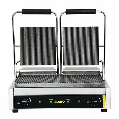 Apuro Bistro Contact Grill - Double (Ribbed/Ribbed) - Au Plug
