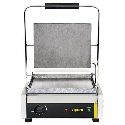 Apuro Bistro Large Contact Grill Smooth Plates Panini Presses & Sandwich Grills