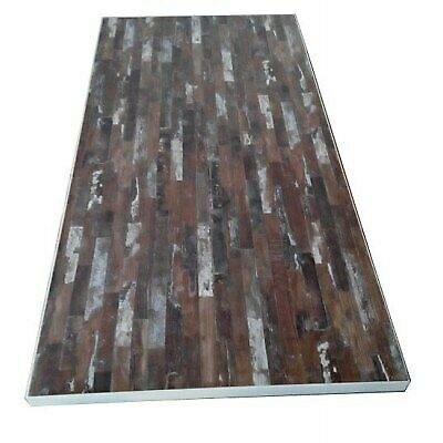 HPL Laminated Table Top - Brown Block - 2400 x 940 Cafe Ideas|