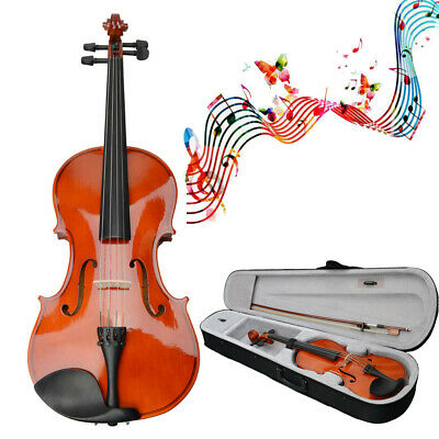 """Student Natural Acoustic Viola Size 15"""" in Adults with Case Bow Rosin UK"""