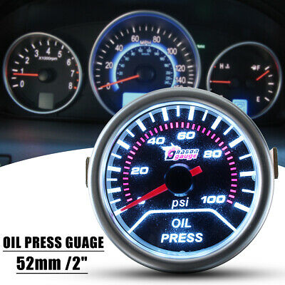 2''52Mm Universal Led Digitale Psi Pressione Olio Manometro Strumento Auto Race