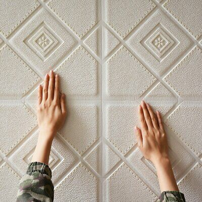 3D Brick Wall Stickers 3D Brick Self-Adhesive Wall Paper Wall Tile Stickers 4m