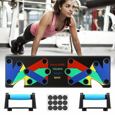 9 in 1 Push Up Rack Board System Fitness Workout Train Exercise Pushup Stands