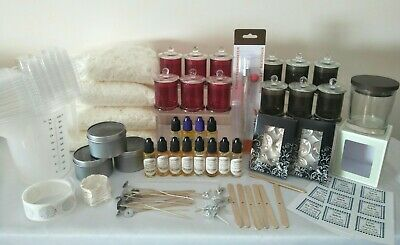 Extra large soy wax candle making kit , melt, tealight. All supplies needed!
