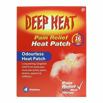 Deep Heat Pain Relief Back Patches 4 - Multibuy - Royal Mail Dispatch