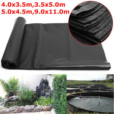 New 8-32ft Fish Pond Liner Gardens Pools HDPE Membrane Reinforced Landscaping
