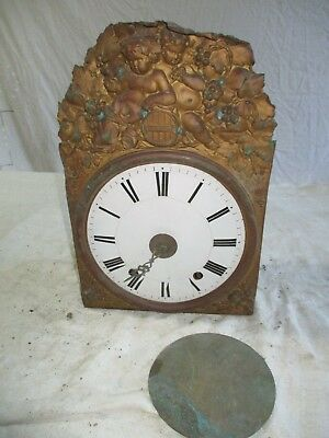 Movement Clock Bell and His/Her Handl Antique Pattern Angels