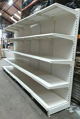 Used Supermarket Shelving 4 Meters Long 2.1 Tall 570Mm Deep Shelves