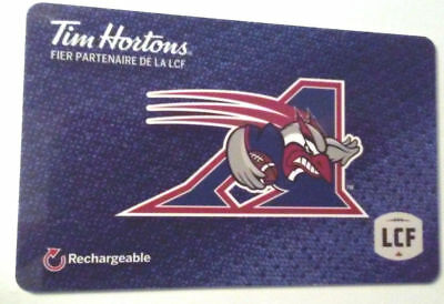 2x Tim hortons CFL Montreal Allouettes gift card zero balance x2