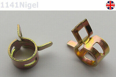 10mm Spring Fuel Oil Water Hose Clip Pipe Tube for Band Clamp Metal Fastener