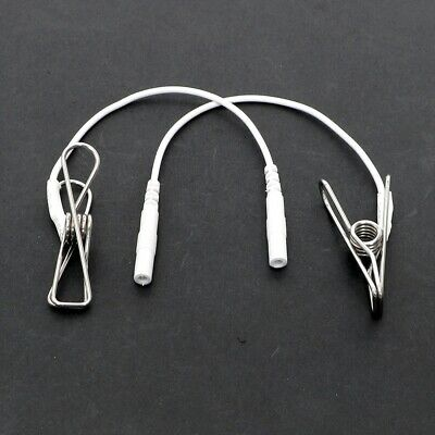 Electrosex Estim Tens Massage Cable Attachment Clips For 2 Mm Pin Uk Seller!