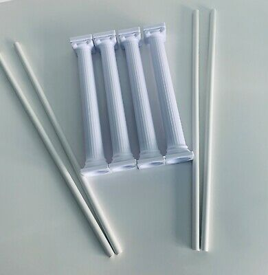 "4 x 7"" White Grecian Pillars Columns  and 12"" Dowel Rods Cake Support Decorate"