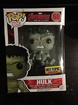 Funko Pop! Hulk Hot Topic Exclusive Avengers Age of Ultron Marvel #68