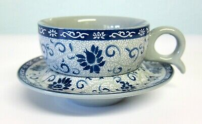 Oriental Chinese Floral Tea Coffee Espresso Cup and Saucer Set