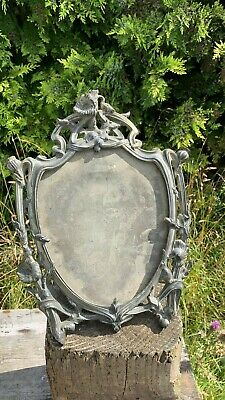 Beautiful Vintage Silver Pewter Metal Photograph Frame With Stand *