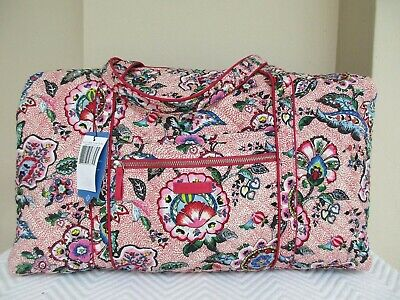 Vera Bradley Iconic Large Travel Duffel In Stitched Flowers