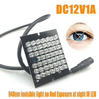 DC12V1A CCTV IR Infrared Illuminator Lights LED Night Vision 90 Degrees Board
