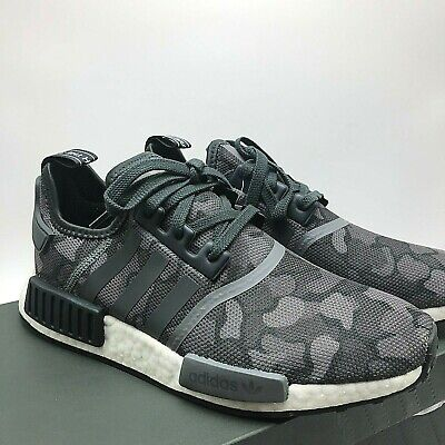 MENS ADIDAS NMD R1 NYC Black Camo NYC Letters Boost Shoes