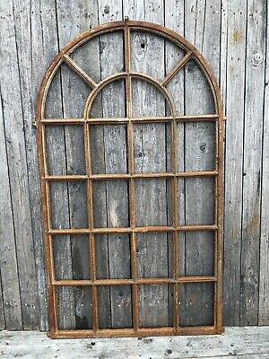 Large cast iron Arch industrial window frame 163x97cm Mirror frame No glass