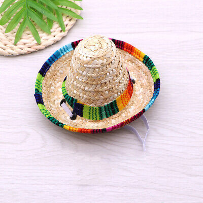 Beautiful Colorful Makeup Funny Pet Cap Cosplay Costume Woven Cap for Pet