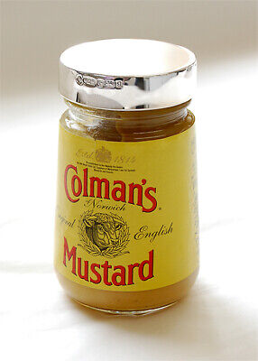 Solid Silver Fully Hallmarked Colman's Mustard Jar Lid - To Fit 100g Jar