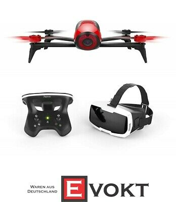 Parrot Bebop 2 FPV Camera Drone  with Skycontroller and FPV Glasses Set Red NEW