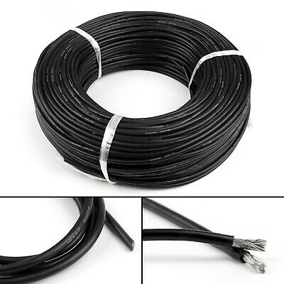 5M Flexible Stranded Silicone Rubber Wire Cable 12AWG Gauge OD 4.5mm Black AR CA