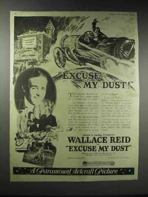 1920 Paramount Excuse My Dust Movie Ad - Wallace Reid