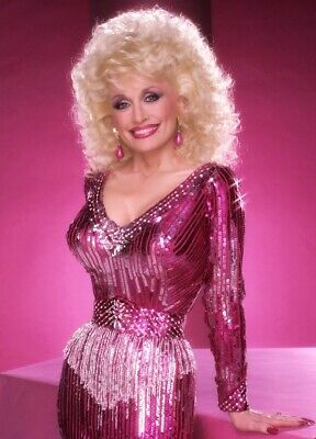 DOLLY PARTON radiant country music showgirl hot dress color 7x10 portrait