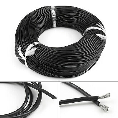 1M Flexible Stranded Silicone Rubber Wire Cable 14AWG Gauge OD 3.5mm Black CA