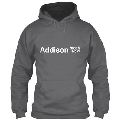 Chicago Cubs Hoodie Addison Wrigley Field Gray M L XL 2XL 3XL 4XL 5XL Sweatshirt