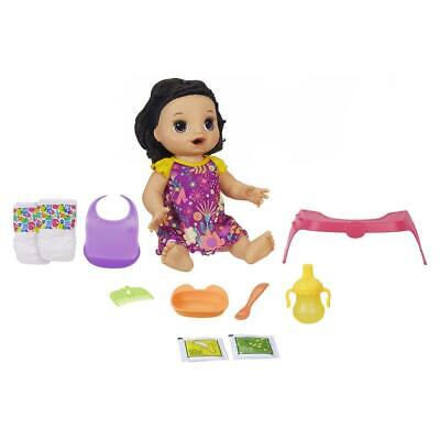 Baby Alive Happy Hungry Baby Black Straight Hair Doll