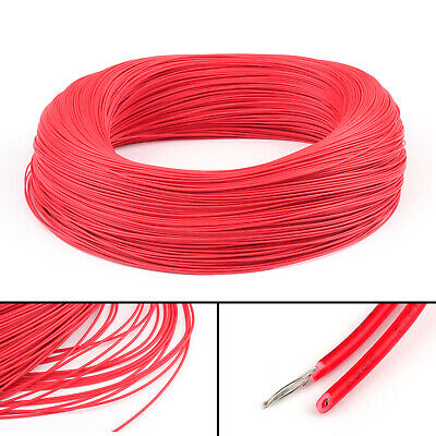 10M Red Flexible Stranded UL1007 26AWG Electronic Wire PVC Cable 300V ROHs CA