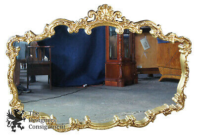 Collective Images 4115 Rococo Gold Wall Hanging Mirror Scalloped Italian French