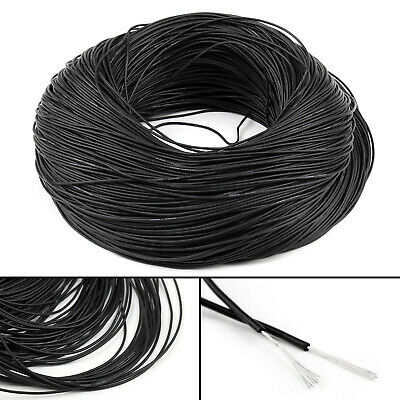 5M Flexible Stranded Silicone Rubber Wire Cable 26AWG Gauge OD 1.5mm Black CA